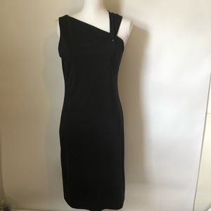Chadwick black sheath midi dress womens 8
